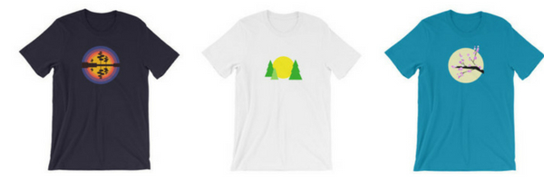 tree themed t-shirt designs by Lorelsberg - Design Inspired by Nature