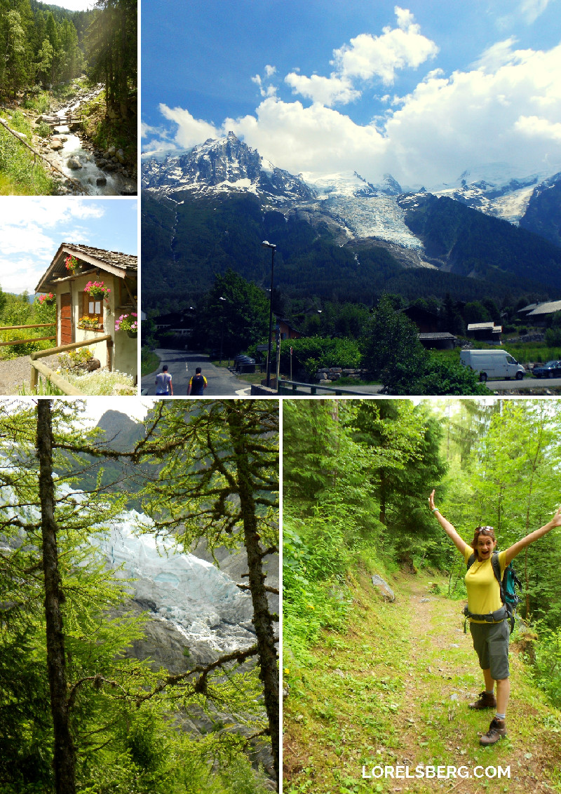 Collage of images from a hiking trip to the french alps