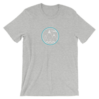 mountains ocean sky unisex t-shirt light gray heather