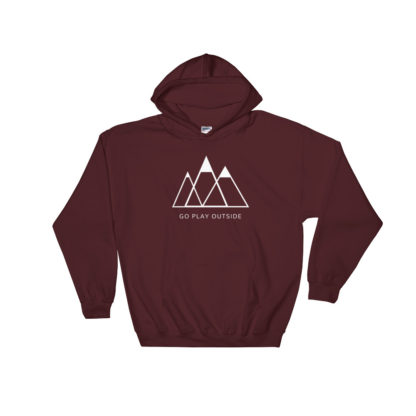 go play outside mountains hiking unisex hoodie red