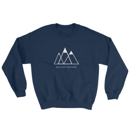 go play outside mountains hiking unisex sweater blue
