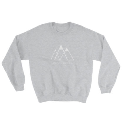 go play outside mountains hiking unisex sweater light gray
