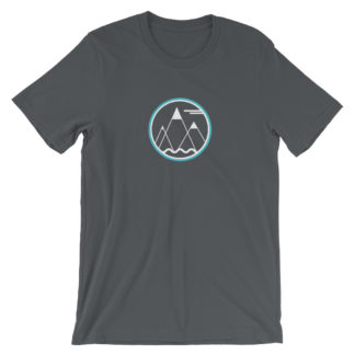 mountains ocean sky unisex t-shirt gray