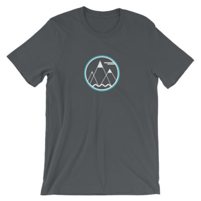 mountains ocean sky unisex t-shirt gray