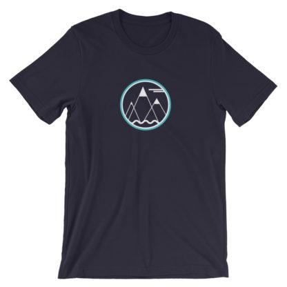 mountains ocean sky unisex t-shirt dark blue