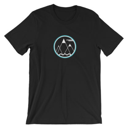 mountains ocean sky unisex t-shirt black