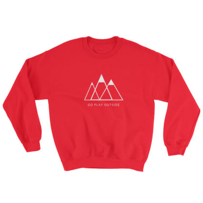 go play outside mountains hiking unisex sweater red