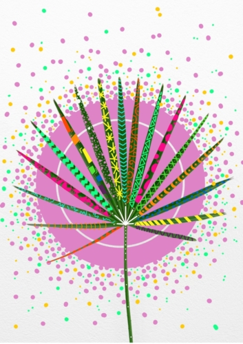 Palm Leaf Digital Artwork Popart