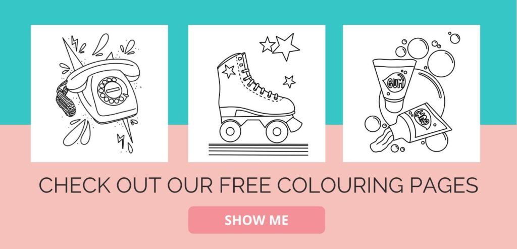 free retro colouring pages