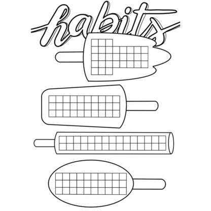 Printable Bullet Journal Habit Tracker Popsicle