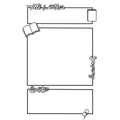 Book Summary Free Planner Printable