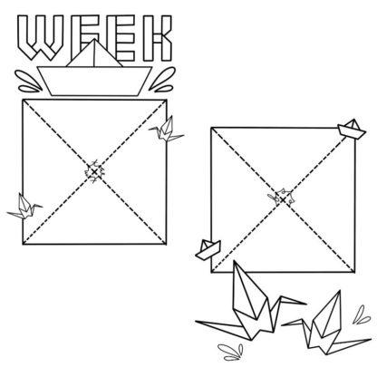Planner Journal Printable - Origami Weekly 01
