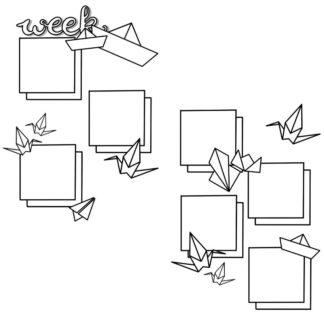 Planner Journal Printable - Origami Weekly 02