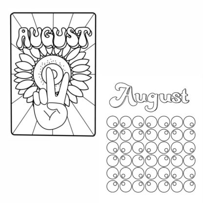 august 70s bullet journal printables 1