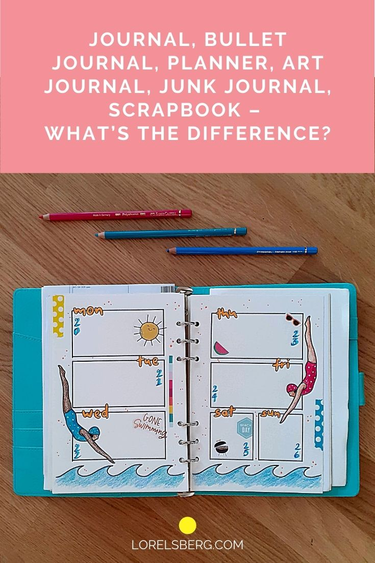 Journal, Bullet Journal, Planner, Art Journal, Junk Journal, Scrapbook - What's the difference?